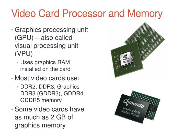Video Card Processor and Memory