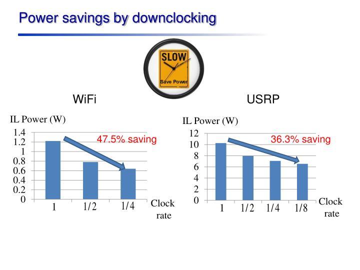 Power savings by