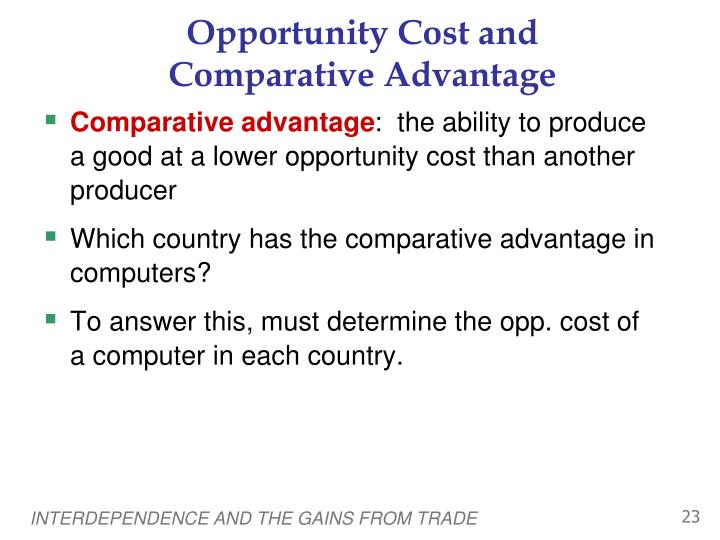 Opportunity Cost and