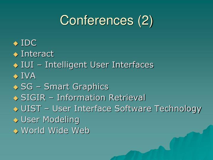 Conferences (2)