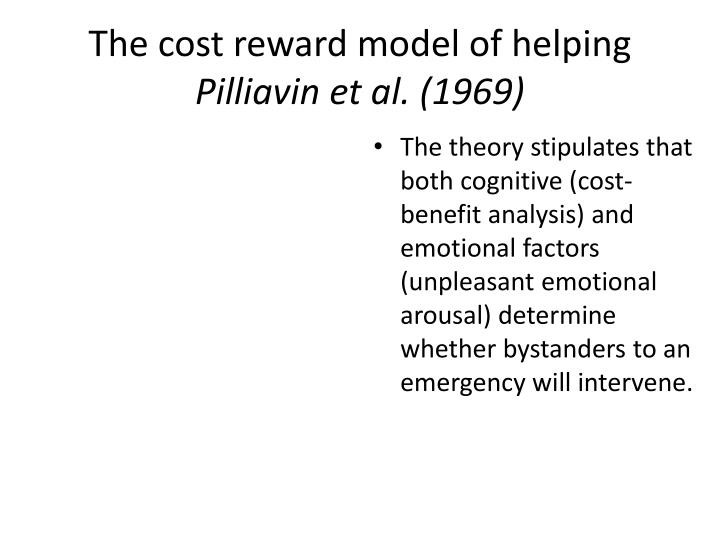 The cost reward model of helping