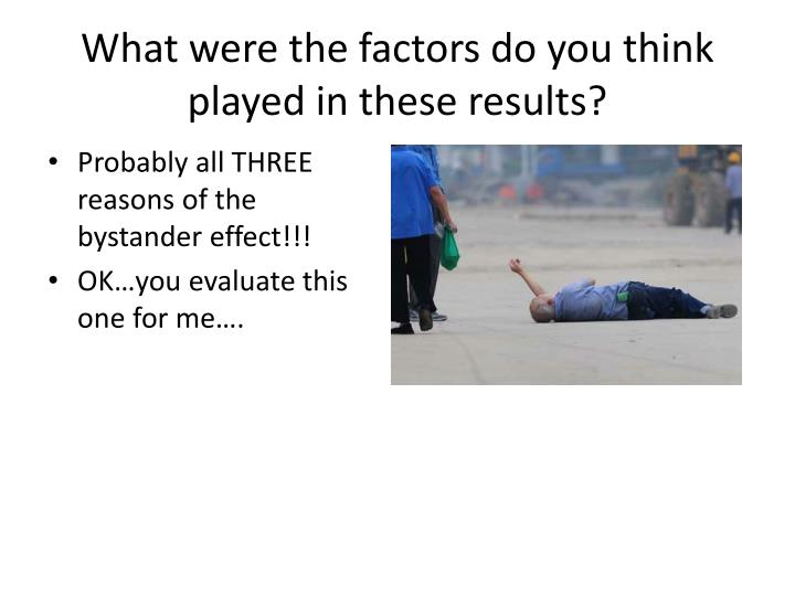 What were the factors do you think played in these results?