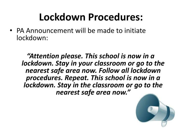 Lockdown Procedures: