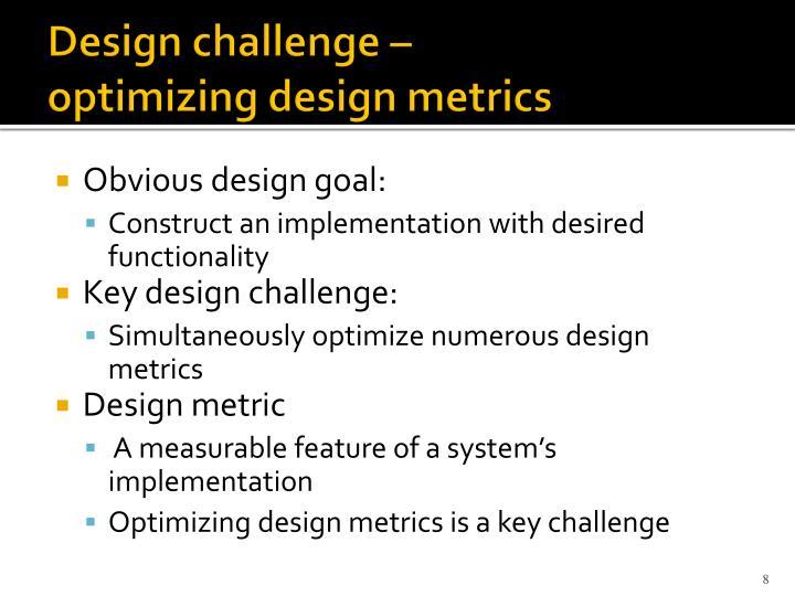 Design challenge –