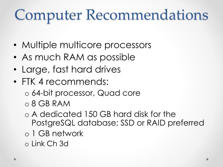 Computer Recommendations