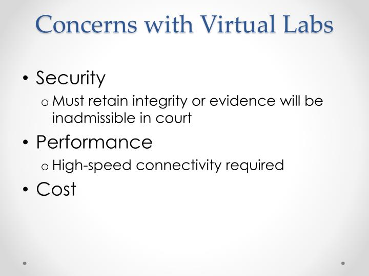 Concerns with Virtual Labs