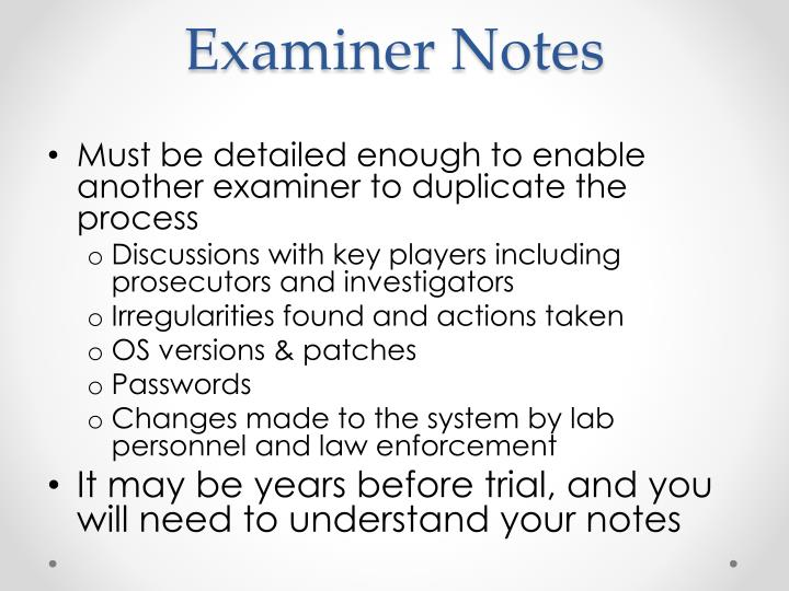 Examiner Notes