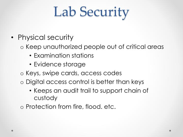 Lab Security