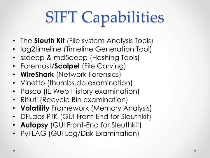 SIFT Capabilities