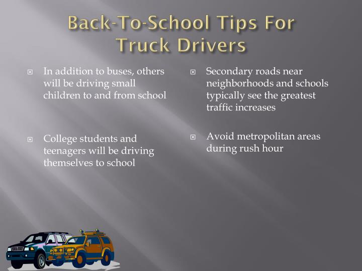 Back-To-School Tips For