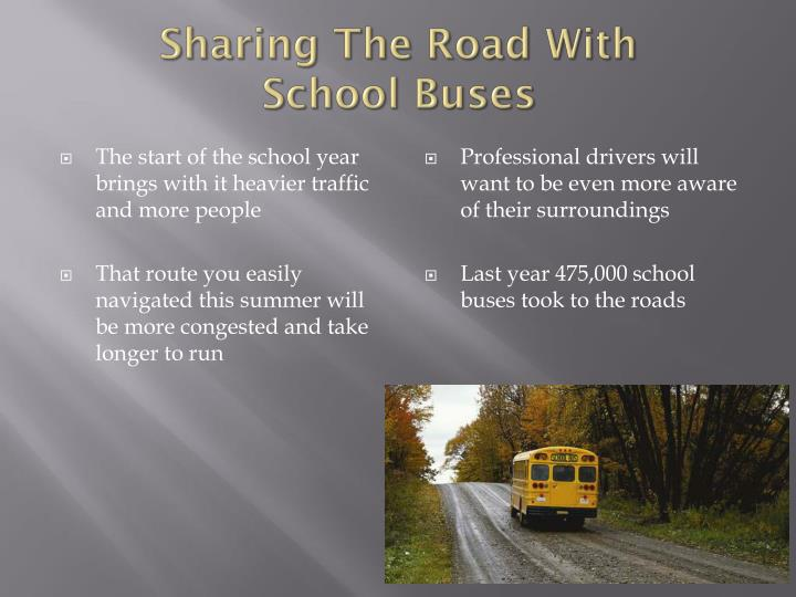 Sharing the road with school buses