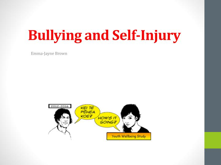 Bullying and self injury