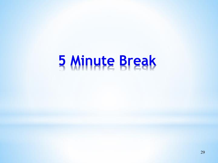 5 Minute Break