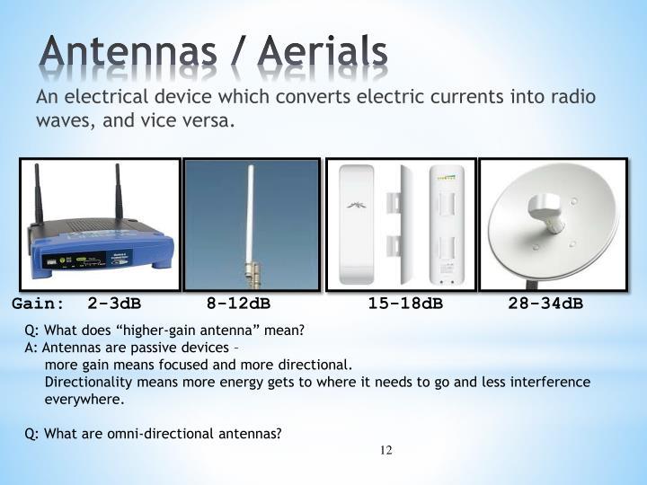 Antennas / Aerials