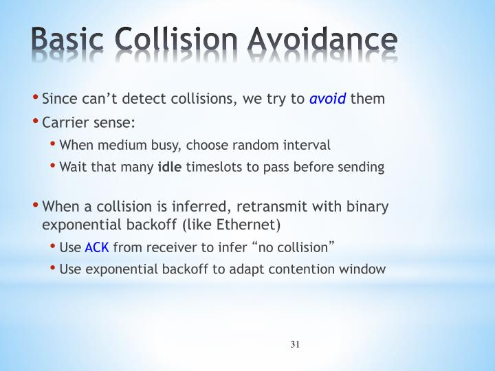 Basic Collision Avoidance