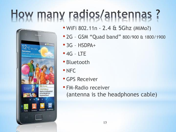 How many radios/antennas ?
