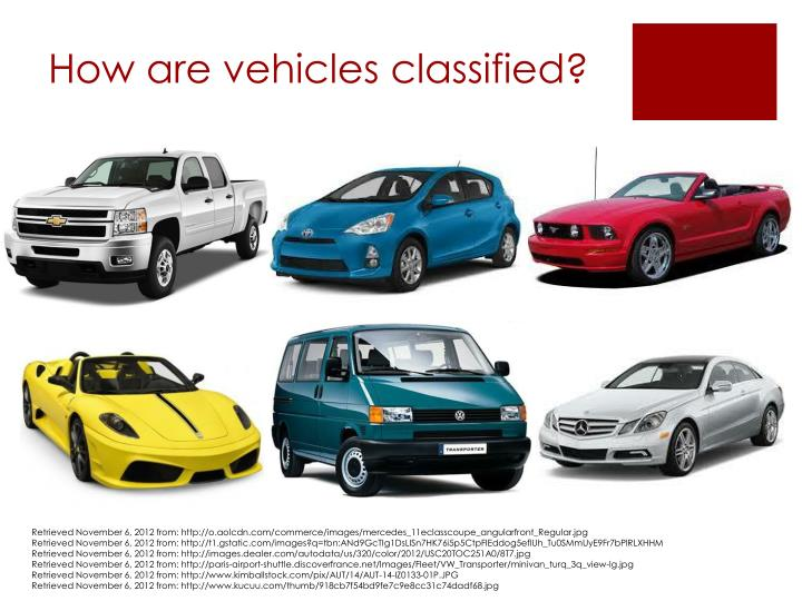 How are vehicles classified?