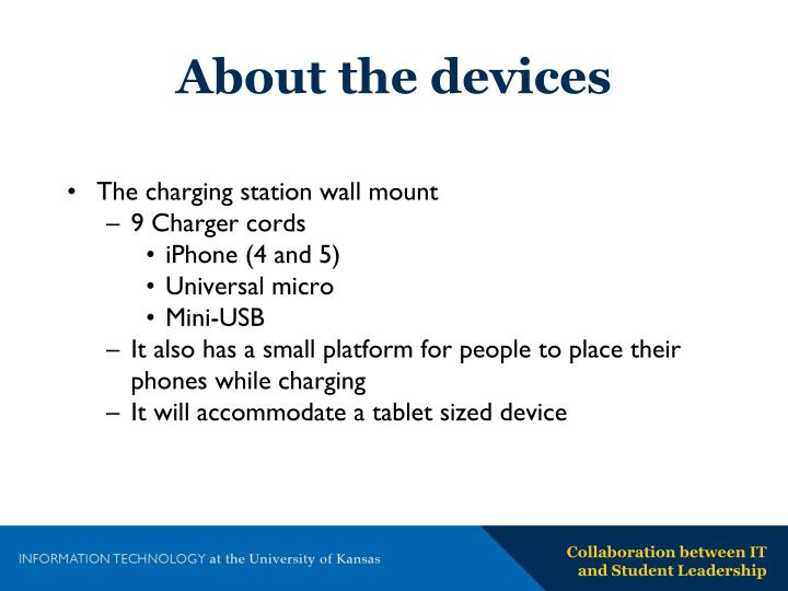 About the devices