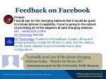 feedback on facebook