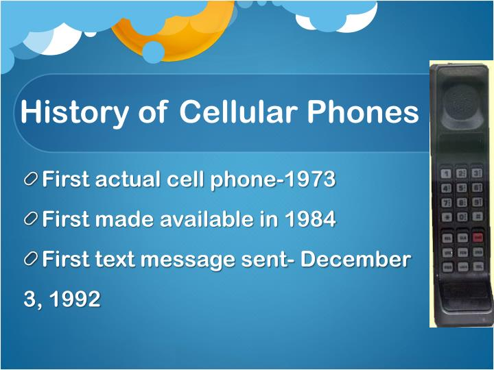History of cellular phones