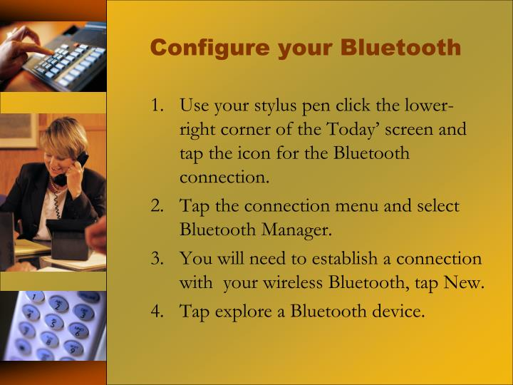 Configure your Bluetooth