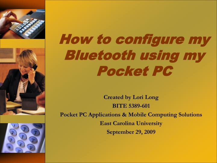 How to configure my bluetooth using my pocket pc