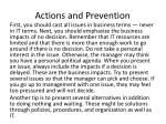 actions and prevention8