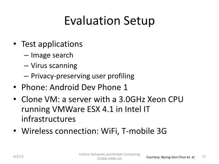 Evaluation Setup