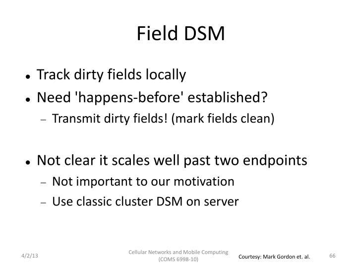 Field DSM