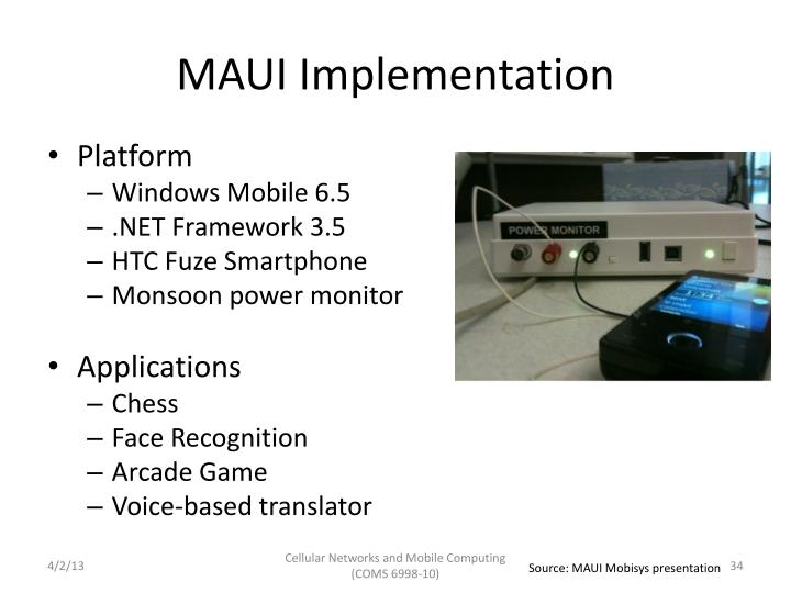 MAUI Implementation
