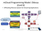 mcloud programming model odessa cont d