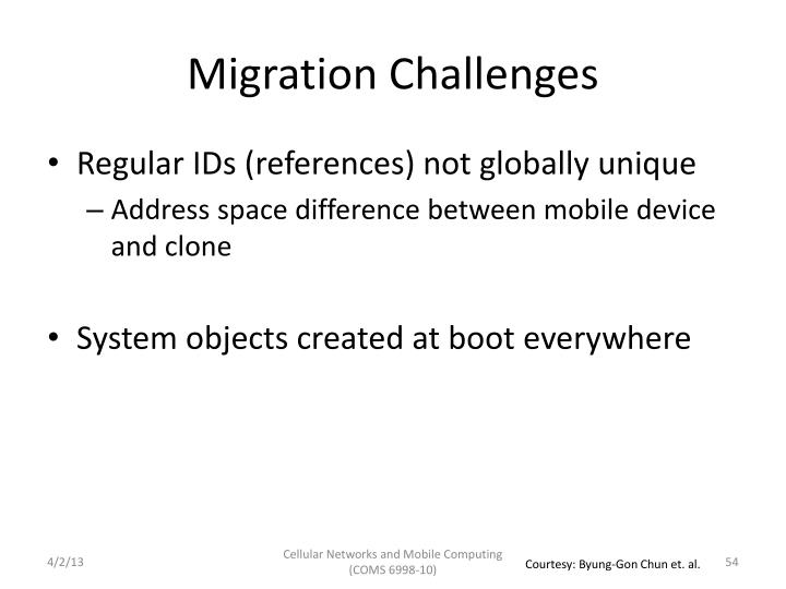Migration Challenges