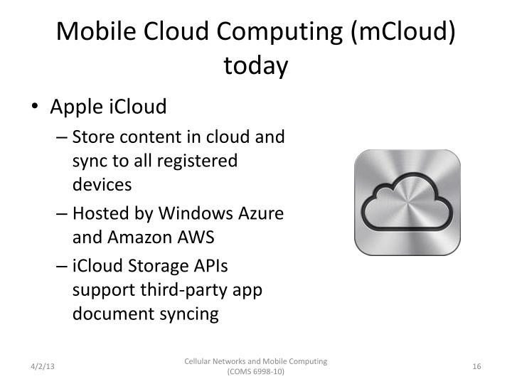 Mobile Cloud Computing (