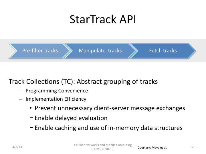 StarTrack API