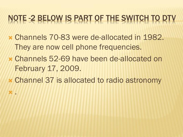 Channels 70-83 were de-allocated in 1982.  They are now cell phone frequencies.