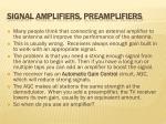 signal amplifiers preamplifiers