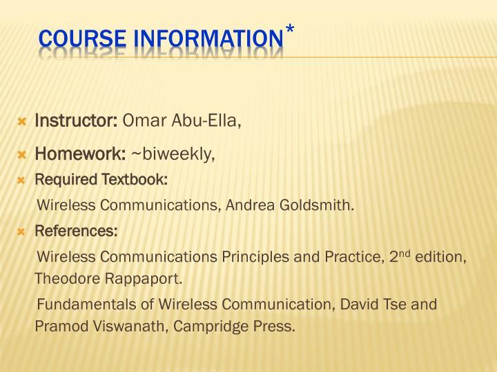 Instructor: