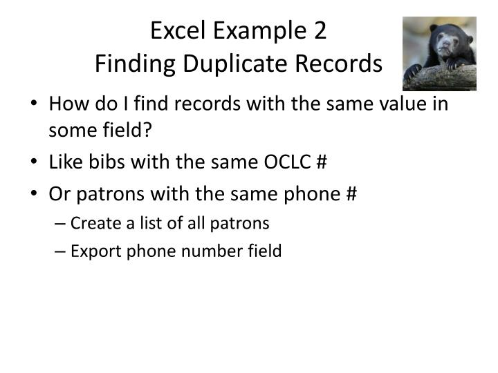 Excel Example 2