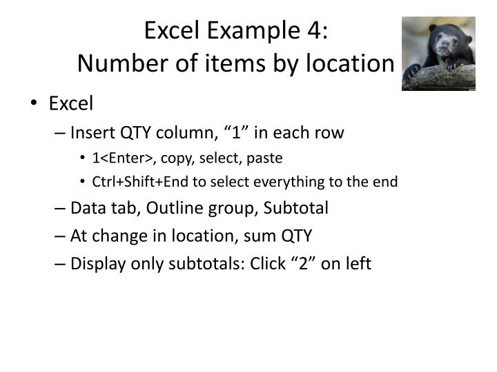 Excel Example 4: