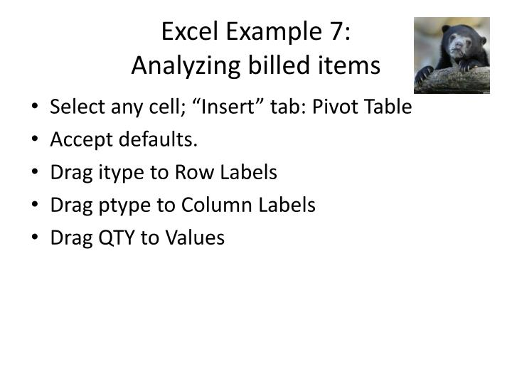 Excel Example 7: