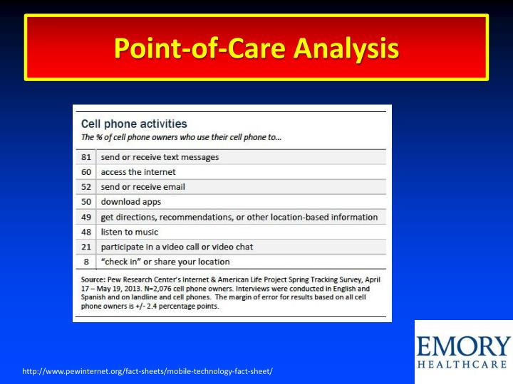 Point-of-Care Analysis