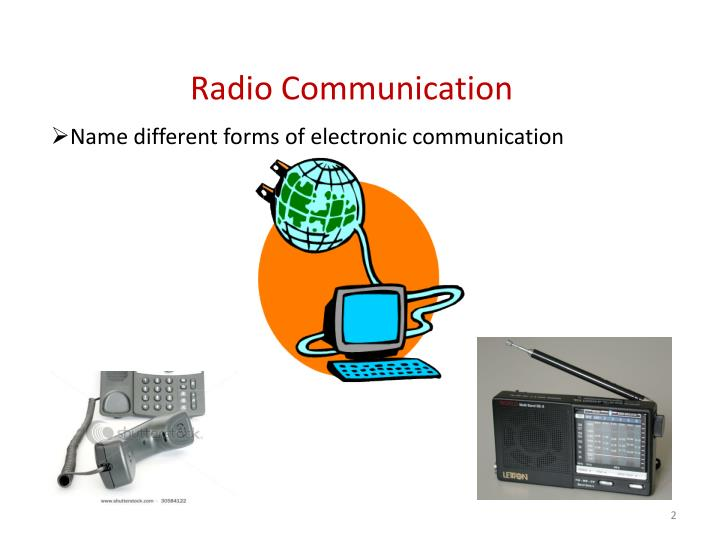 Name different forms of electronic communication