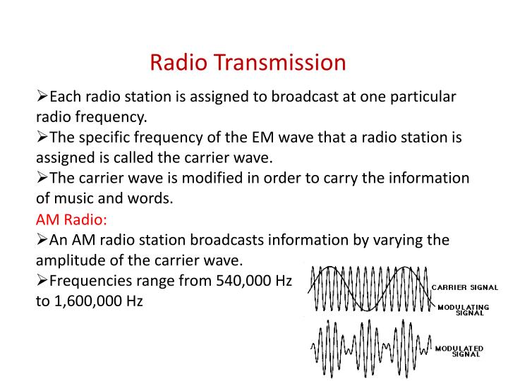 Each radio station is assigned to broadcast at one particular radio frequency.