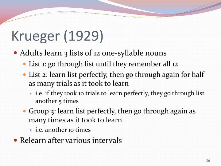 Krueger (1929)