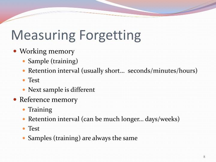 Measuring Forgetting