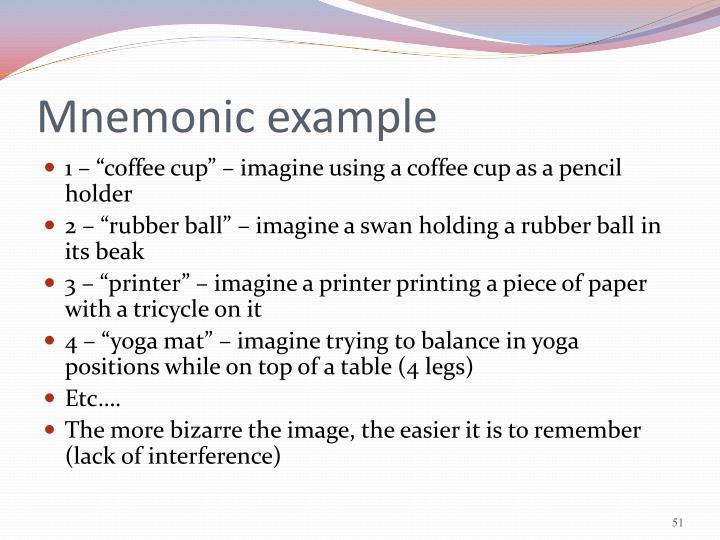 Mnemonic example