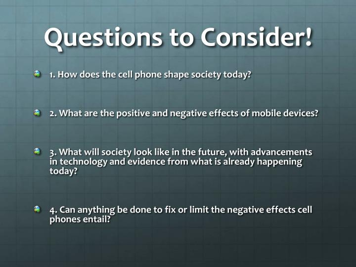 Questions to Consider!