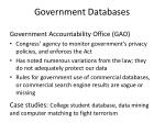government databases