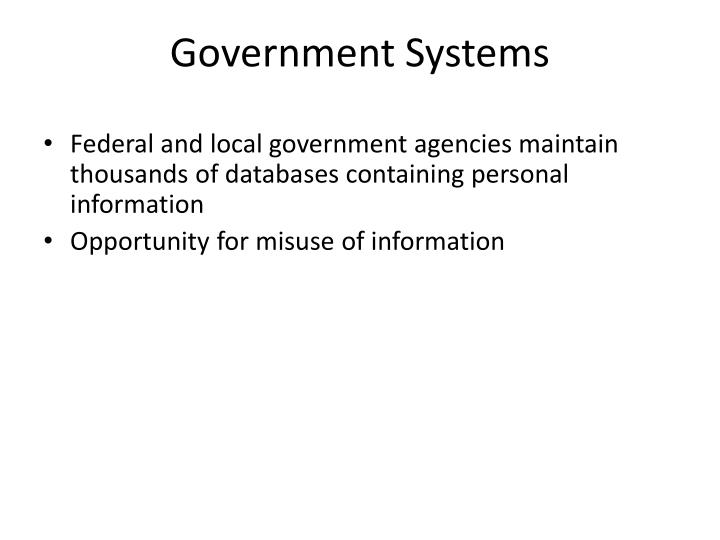 Government Systems