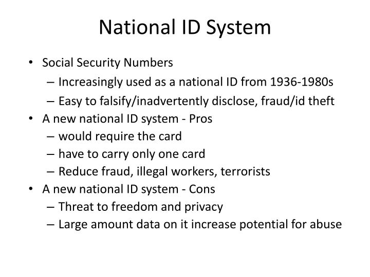 National ID System
